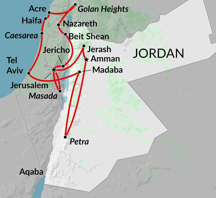 Best Of Israel Jordan Jerusalem The Holy Land Jordan - Map of egypt jordan and israel