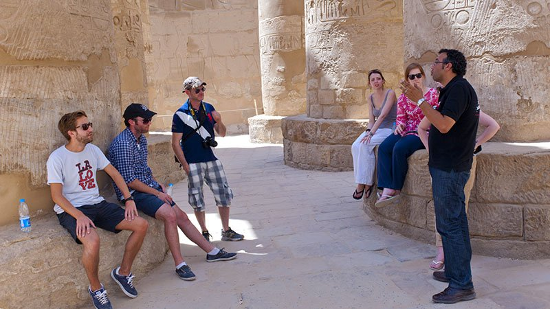 Clients at Karnak Temple, Luxor, Egypt