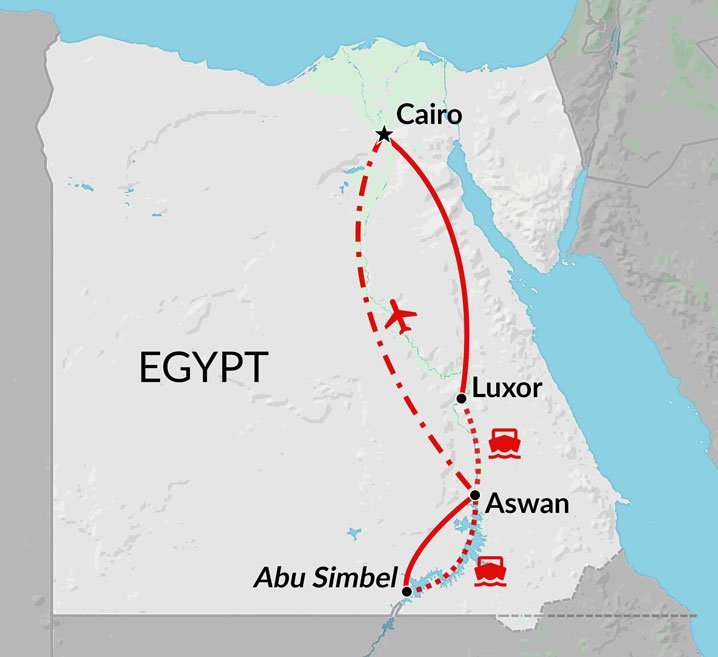 Lake Nasser Map Lake Nasser & The Nile tour | Cairo, Nile Valley & Lake Nasser  Lake Nasser Map