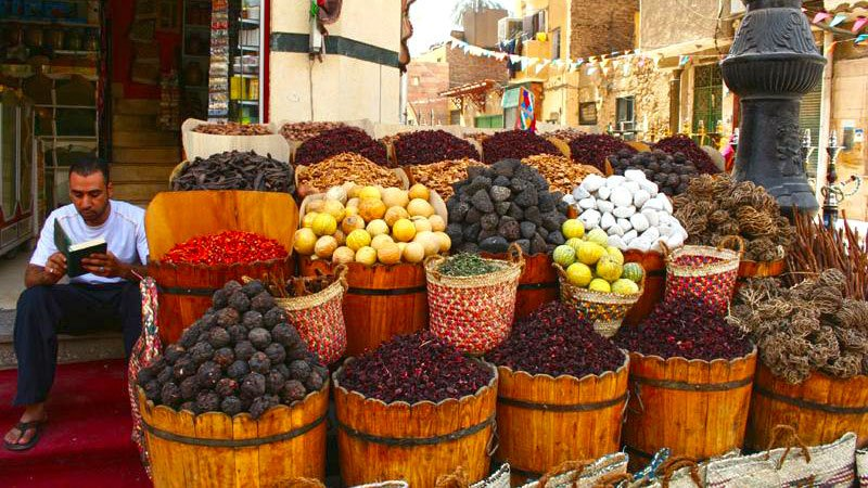 Colourful market stall, Egypt