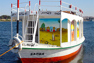 Our felucca suport boat