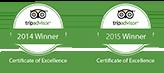 tripadvisor winner 2014 and 2015